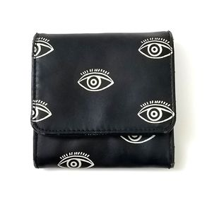 Mossimo black and white evil eye coin wallet